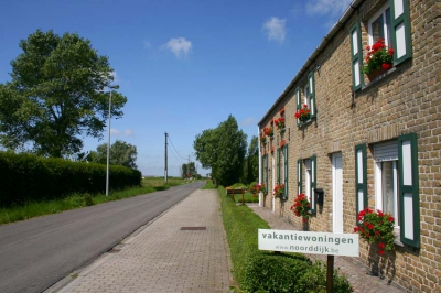 Holiday cottages in a quiet street