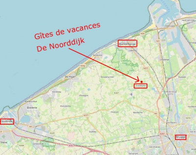 Situé entre Bruges et la côte Belge